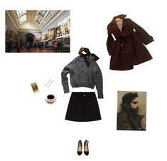 """""""we're leaving"""" by gaylord420 ❤ liked on Polyvore featuring American Apparel, Hermès, GET LOST, Zara and Market"""