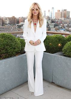ec189592bd Rachel Zoe looks sensational in a sharp white suit. 70s FashionWork ...