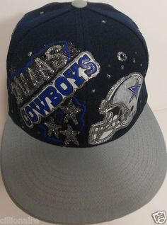 948f4896ec24e  30.00 DALLAS COWBOYS GREY AND BLUE HELMET FOOTBALL SNAP BACK CAP HAT Snap  Backs