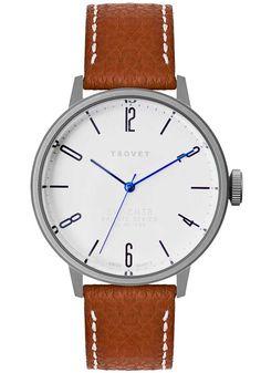 Tsovet SVT-CN38 Brown/Matte Silver CN110111-40 | Free Shipping at Watchismo.com*