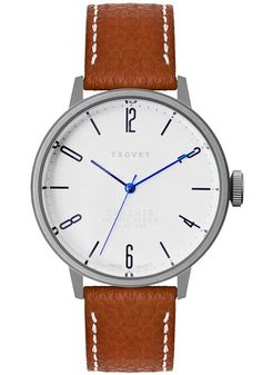 Tsovet SVT-CN38 Brown/Matte Silver CN110111-40 | Free Shipping at Watchismo.com*