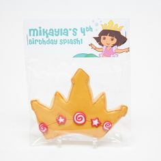 Dora The Explorer Birthday Party Favors, Mermaid Crown Cookies