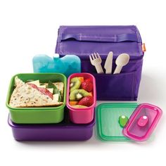 Realseal Big Lunch Set This great lunch set includes: Insulated cooler bag 1.0L lunchbox 650ml lunchbox 300ml lunchbox Icewall Clip together knife, fork, spoon set The set is free of BPA, PVC, lead and phthalates. All lunchboxes, drink flask and cutlery set are dishwasher-safe. Available from Howards Storage World.