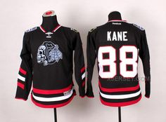 http://www.xjersey.com/blackhawks-88-kane-black-youth-jerseywith-white-skull.html BLACKHAWKS 88 KANE BLACK YOUTH JERSEY(WITH WHITE SKULL) Only 47.31€ , Free Shipping!