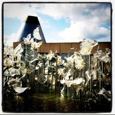 The glass museum in Tacoma, Washington.  I'd love to come home and see this!