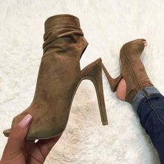 Side Zipper Peep Toe Bootie Heels Fancy Shoes, Unique Shoes, Cute Shoes, Me Too Shoes, Sock Shoes, Shoes Heels Boots, Heeled Boots, Bootie Boots, Bootie Heels