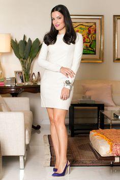 Blog da Mariah - white long sleeve dress
