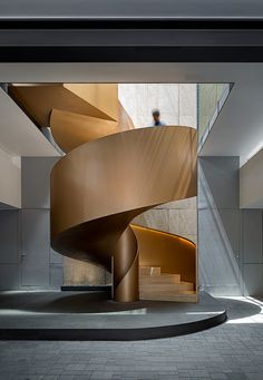 38 Inspiring Modern Staircase Design Ideas is part of architecture - If you are building a home and need to decide on the type of stairs you want to use then […] Staircase Architecture, Architecture Design, Staircase Design, Contemporary Architecture, Staircase Ideas, Open Staircase, Staircase Remodel, Railing Ideas, Spiral Staircases