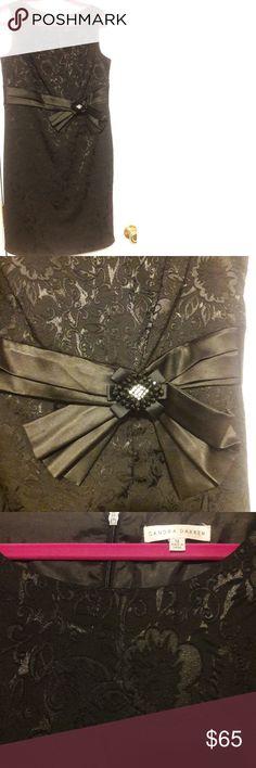 Dress Elegant cocktail party black dress in excellent condition. Sandra Darren Dresses Midi