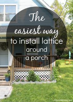I installed lattice around our porch in no time - this only took half an hour! I'll show you how, and it was so inexpensive# #garden #yard #porch #patio #house