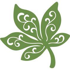 Silhouette Design Store: swirl leaf