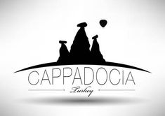 Illustration of Cappadocia City Skyline Design vector art, clipart and stock vectors. Capadocia, Skyline Design, Skyline Silhouette, Simple Embroidery, Banner Printing, Facebook Image, Image Photography, Vector Art, Backdrops