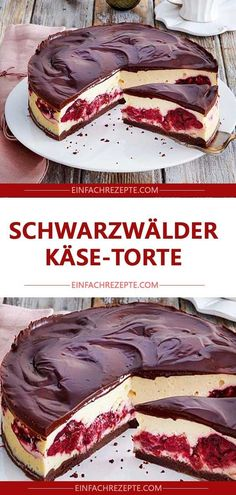 Black Forest Cheese Cake, perfectly seasoned with Schwarzwälder-Käse-Torte 😍 😍 😍, einwandfrei mit Tantes eingelegten Ki… Black Forest Cheese Cake 😍 😍 😍, flawless with marinated cherry, June 2019 - Cheese Cake Receita, Cheese Cakes, Cheesecake Recipes, Dessert Recipes, Cheesecake Cake, Dessert Blog, Black Forest Cheesecake, Black Forest Torte Recipe, Pumpkin Spice Cupcakes