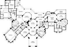 Luxury Style House Plans - 8707 Square Foot Home , 2 Story, 5 Bedroom and 5 Bath, 3 Garage Stalls by Monster House Plans - Plan 62-493