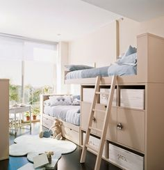 Toddler Bunk Beds — The Darien Designs Toddler Bunk Beds, Kid Beds, Home Bedroom, Girls Bedroom, Mini Loft, Modern Bunk Beds, Bunk Beds With Stairs, Beautiful Houses Interior, Shared Rooms