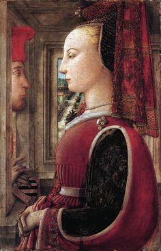 Filippo Lippi. Portrait of a Man and a Woman at a Casement, c 1440