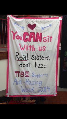 PA Zeta Pi Phi Anti-Hazing Week Banner