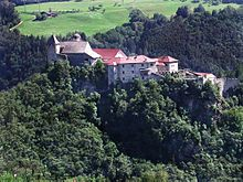 Säben Abbey (German: Kloster Säben; Italian: Monastero di Sabiona) is a Benedictine nunnery located near Klausen in South Tyrol, northern Italy. It was established in 1687, when it was first settled by the nuns of Nonnberg Abbey in Salzburg.