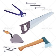 Tools  #GraphicRiver         A selection of common tools used for construction and repair.     Created: 19March12 GraphicsFilesIncluded: VectorEPS Layered: Yes MinimumAdobeCSVersion: CS Tags: art #ax #business #carpentry #clip #collection #color #computer #construction #darby #decor #design #equipment #group #hacksaw #hammer #handsaw #home #house #icon #illustration #industry #interior #isolated #measure #object #painting #paper #pliers #putty