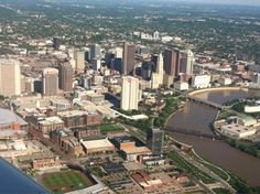 Bird's eye view of Columbus. Photo by @ashlarae26