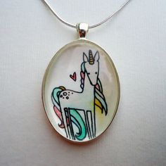 Unicorn pendant.