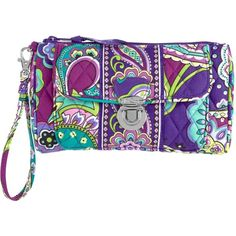 Vera Bradley Pushlock Wristlet in Heather ($29) ❤ liked on Polyvore featuring bags, handbags, clutches, purses, heather, colors, hand bags, special occasion handbags, vera bradley purses and wristlet handbags