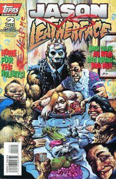 Jason vs. Leatherface / 2 cover / 1995 (Simon Bisley)