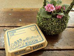 found.  1950s egg carton.  perfectly adorable.