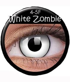 white zombie contacts, colourvue contacts, crazy contacts, contact lenses