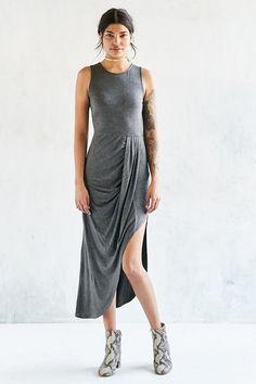 Silence + Noise Draped Side Knit Maxi Dress