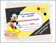 50 Convites - Mickey   Virtual Grand Design   Elo7