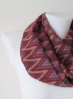 Zig Zag Pattern Chiffon Infinity Scarf - Circle Scarf - Loop Scarf - Fall Winter Spring Summer Fashion infinity scarves mothers day handmade scarf circle scarf shawls loop scarf chevron pattern valentines day ornage brown zig zag pattern colorful scarf 17.90 USD #goriani