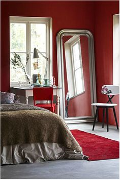red - and what a mirror!