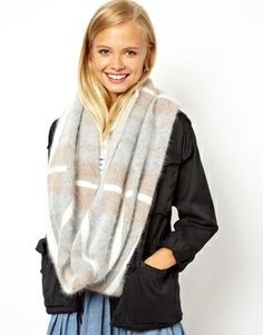 ASOS+Angora+Mix+Check+Snood