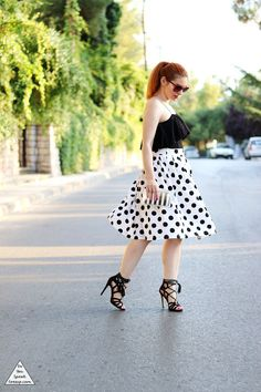 Black & white polka dots - outfit - DoYouSpeakGossip.com
