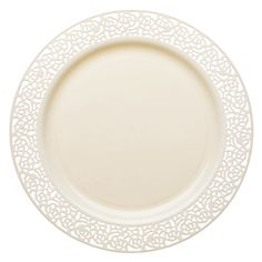 OCCASIONS   Wedding Party Plastic Disposable Bone / Ivory or White Plates | White plates Burlap weddings and Ivory  sc 1 st  Pinterest & OCCASIONS