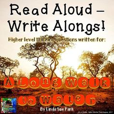 This book by Lynda Sue Park is an amazing read! Use this Read Aloud Write Along to get the most out of your read alouds in your classroom! Writing Skills, Writing Activities, Long Walk To Water, Ela Classroom, Classroom Ideas, Balanced Literacy, Award Winning Books, Literature Circles, This Is A Book