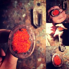 #ring, #copper, #jewelry, #clay, #red