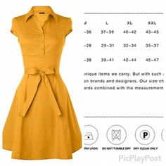 "Modcloth Mustard vintage dress retro sz Xl Fits bust 40"" waist 33"". BRAND NEW WITH TAGS! ModCloth Dresses Midi"