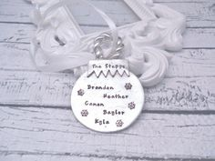 Custom Hand Stamped Christmas Ornament Ball by delenasdesigns Personalized Family Ornaments, Baby First Christmas Ornament, Babies First Christmas, Personalized Christmas Ornaments, Christmas Balls, Christmas Holidays, Christmas Shopping, All Things Christmas, Ball Ornaments