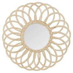 Miroir rond en rotin D60 | Maisons du Monde