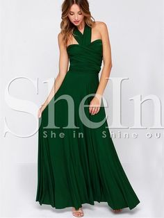 Shop Green Halter Backless Maxi Dress online. SheIn offers Green Halter Backless Maxi Dress & more to fit your fashionable needs.