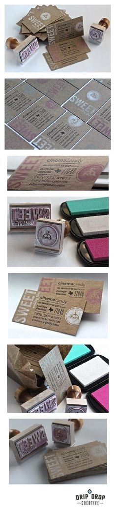 Letterpress and stamp business cards in AKA SNAKE OIL