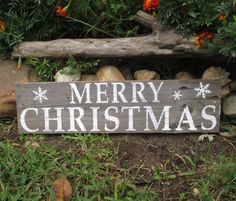 Rustic Christmas Signs Shelf Sitter by CountryByTheBumpkins