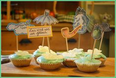 Magritte Cake Toppers by Charlie Fothers, via Flickr