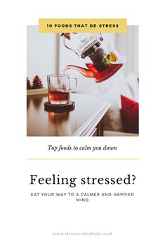 Your nutrition effects your mind and your stress levels as a bad diet adds another layer of stress to your body.  Eat your way to feeling calm with my top 10 foods.  Blog below