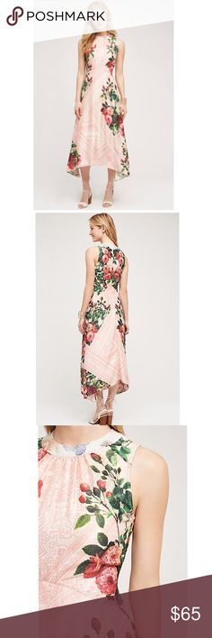 """ANTHROPOLOGIE Butterfly Garden Midi Dress Size 6 ANTHROPOLOGIE Midi Dress designed by Pankaj & Nidhi, Size 6. New with tags (pictured). Midi dress falls 50.75"""" from shoulder (model in picture is 5'10"""" for reference!). Beaded collar gives beautiful detail to this stunning and unique dress. Anthropologie Dresses Midi"""