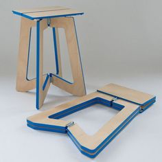 Smart And Stylish Folding Furniture Pieces For Small Spaces - wood design Folding Furniture, Smart Furniture, Folding Stool, Space Saving Furniture, Plywood Furniture, Flexible Furniture, Plywood Chair, Trendy Furniture, Furniture Buyers