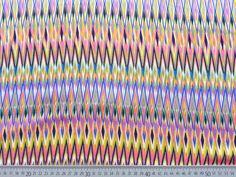 Stoff grafische Muster - Viskose Ethno/Hippie Look, gelb/flieder - ein Designerstück von Wunderland-der-Stoffe bei DaWanda