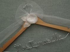 Wedding Name Hanger Engagement Gift Wood Wedding by DivineDays